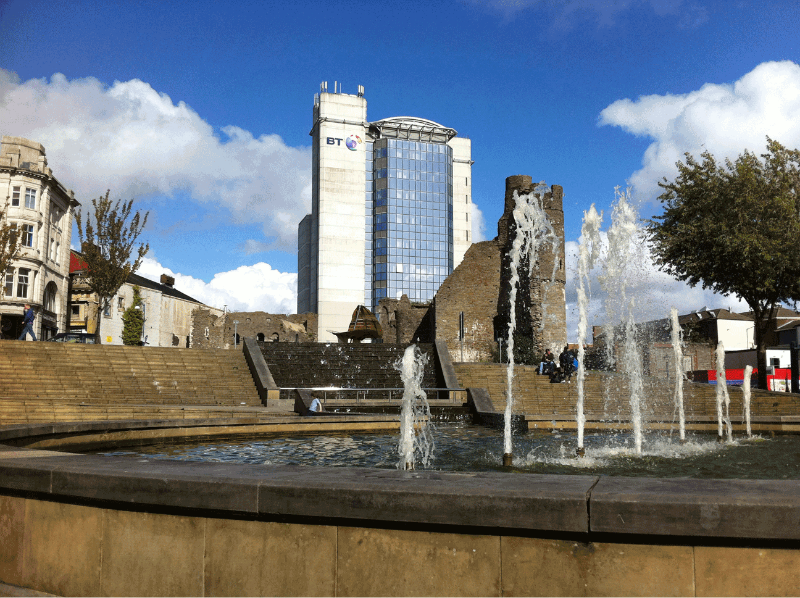 Photograph of a Swansea\'s Castle Square