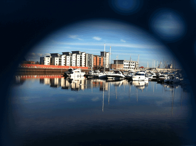 Photograph of a Swansea\'Marina on the SA1 area of the city